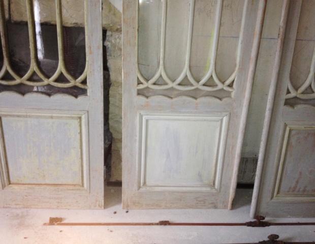 Detail of Linen Cupboard Doors