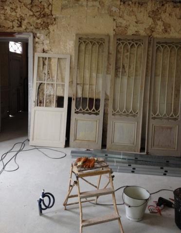 Linen Cupboard Doors Striped